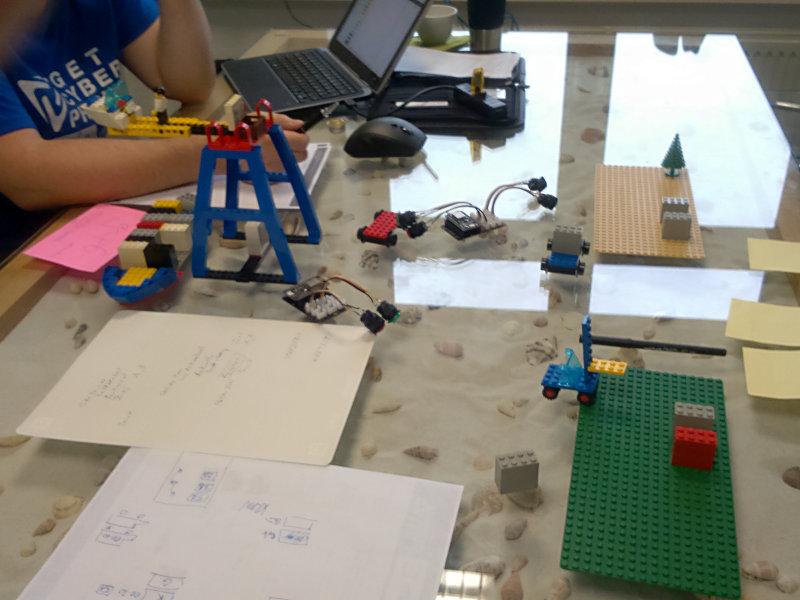 Modellierung der Abläufe eines Containerterminals mit Hilfe von Lego.