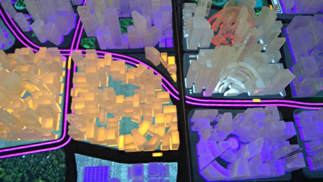 Simulationsmodell einer Smart City auf den Stand der Hannover Messe