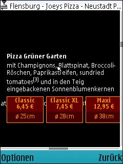 Pizza grüner Garten mit Spinat, Brokoli und getrockneten Tomaten
